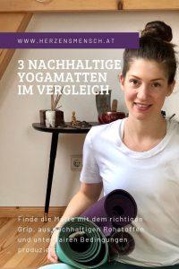 Drei nachhaltige Yogamatten im Vergleich